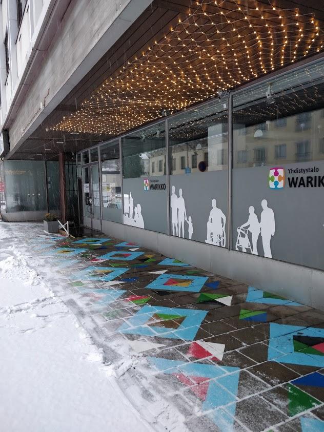Linkki Yhdistystalo Warikon kotisivuille. Kuvassa Warikko talvella.